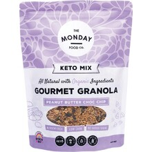 The Monday Food Co Keto Granola Peanut Butter Chocolate Chip 800g