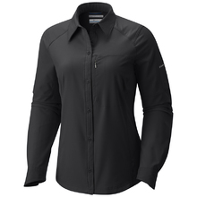 Columbia Womens Silver Ridge Long Sleeve Shirt - Black