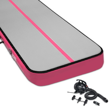 Everfit 7MX1M Airtrack Inflatable Air Track Tumbling Mat with Pump Gymnastics Pink