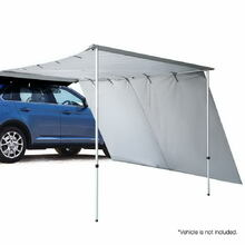 Weisshorn Car Shade Awning 3 X 3M W/ Extension 3 X 2M   Grey