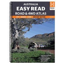 Hema Maps Australia Easy Read Road And 4WD Atlas Guide Map