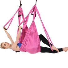 210T Parachute Fabric Yoga Aerial Silks Set Swing Hammock  Anti-gravity Yoga Belts Fitness Exercise Tools
