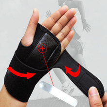 AOLIKES Sports Wrist Palm Brace Wrap Sprain Injury Support Protector With Aluminum Plate
