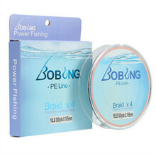 BOBING 300M 4 Strands PE Braided Power Fishing Line 6-15LB Multifilament Carp Sea Fishing Rope