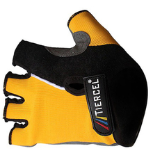 Bicycle Half Finger Gloves Mountain Bike Cycling Gloves Yellow
