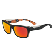 Bolle Jude Matte Black/Argyle Orange Adult Sunglasses Pol TNS Fire