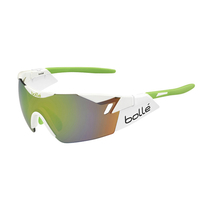 Bolle 6th Sense Shiny White/Lime Adult Sunglasses Mod Green Emerald