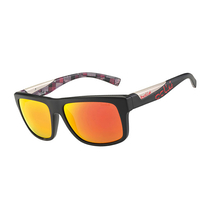 Bolle Clint Matte Black Red Plaid Adult Sunglasses TNS Fire
