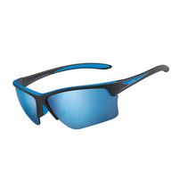 Bolle Flash Matte Black/Blue Adult Sunglasses Pol Offshore Blue