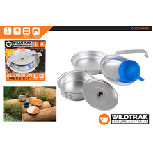 WildTrack Aluminium Mess Kit 1 Person