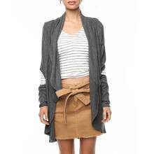 Ocean & Earth Ladies Lassy Cardigan - Charcoal Marle