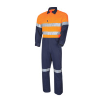 Heavyweight Coverall With 3M Tape - Orange Navy