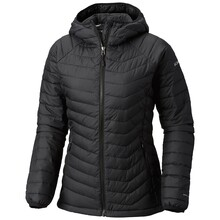 Columbia Womens Powder Lite Hooded Insulated Jacket Black