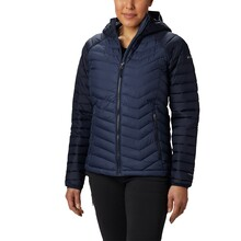 Columbia Womens Powder Lite Hooded Insulated Jacket Navy
