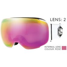 Carve The Boss White Duel Lens Goggle - Grey/Rose Iridium