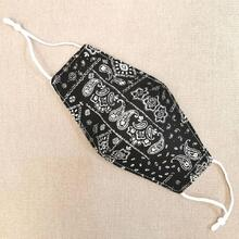 PRESALE FIND™ Face Mask Paisley White on black Cotton