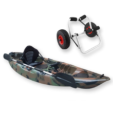 FIND™ Stealth 2.7 Single Fishing Kayak Jungle Camo Including Kayak Trolley