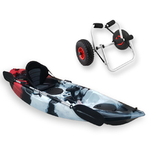 FIND™ Stealth 2.7 Single Fishing Kayak Killer Camo Including Kayak Trolley