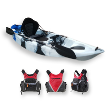 FIND™ Stealth 2.7 Single Fishing Kayak Tiger Sky Camo Including PFD Life Vest