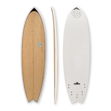 "FIND™ Quadfish Duralite 6'6"" Bamboo Surfboard"