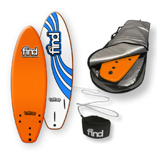 "FIND™ 5'6"" Tuffrap Thruster Orange Soft Surfboard Softboard + Cover + Leash Package"