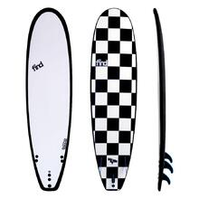 "FIND™ 8'0"" Big Softie Tufflex Soft Surfboard - White Checker"