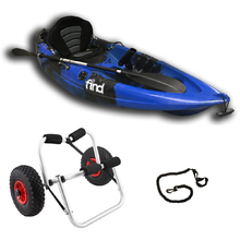 Melbourne FIND™ Stealth 2.7 Single Fishing Kayak Package Blue Including Kayak Trolley