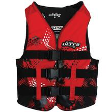 Ultra - Female Contender Multi-Fit Nylon Life Vest Life Jacket PFD Personal Floating Device  [Level 50] - Red
