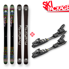 Five Forty Snow Skis Sound Black Camber Sidewall with Tyrolia SP AC 7.5 Binding - 145cm
