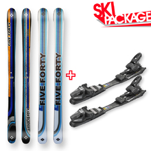 Five Forty Snow Skis Park Camber Sidewall 155cm with Binding Package