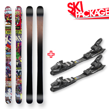Freestyle Snow Skis Marvel Camber Sidewall 160cm with Binding Package