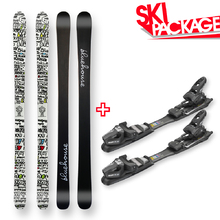 Bluehouse Snow Skis (white) Camber Sidewall with Tyrolia SP AC 7.5 Binding - 165cm