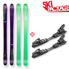 Matrix Snow Skis Purple Flat Sidewall with Tyrolia SP AC 7.5 Binding - 180cm
