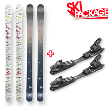 Matrix Snow Skis Birds Camber Sidewall 180cm with Binding Package
