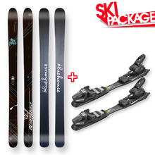Bluehouse Snow Skis Flat Sidewall with Tyrolia SP AC 7.5 Binding - 187cm