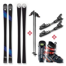FIND Carve Capped Skis with Binding, Boots, Poles