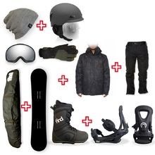FIND Snowboard Package with Realm Lace Boot and TRACTION Binding + Men Head to Toe Package