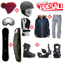 Snowboard Package PRESALE with Realm ATOP Cable Boot and TRACTION Binding + Women Head to Toe Package