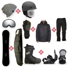 FIND Snowboard Package with Realm ATOP Cable Boot and TORK Binding + Men Head to Toe Package