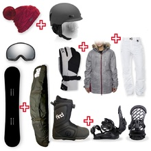 FIND Snowboard Package with Realm ATOP Cable Boot and TORK Binding + Women Head to Toe Package
