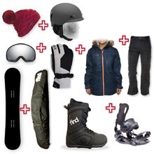 FIND Snowboard Package with Realm Lace Boot and Rear Entry SP Binding + Women Head to Toe Package