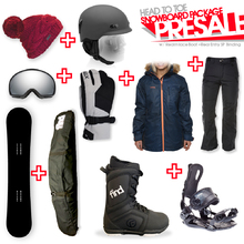 Snowboard Package PRESALE with Realm Lace Boot and Rear Entry SP Binding + Women Head to Toe Package