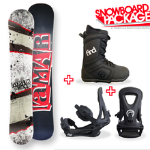 Lamar Trooper Flat Capped 161cm Snowboard Package with Bindings & Boots