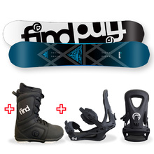 FIND Prism Sidewall Snowboard Package with Realm Lace Boot and TRACTION Binding