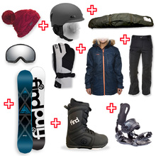 FIND Prism Sidewall Snowboard Package with Realm Lace Boot and Rear Entry SP Binding + Women Head to Toe Package