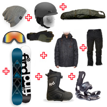 FIND Prism Sidewall Snowboard Package with Realm ATOP Cable Boot and Rear Entry SP Binding + Men Head to Toe Package