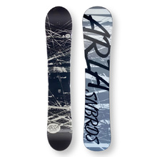 ARIA Snowboard 151.5cm Drawliner B/W & Grey Twin Tip Camber Capped