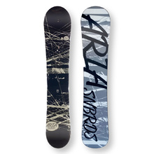 ARIA Snowboard 154.5cm Drawliner B/W & Grey Twin Tip Camber Capped