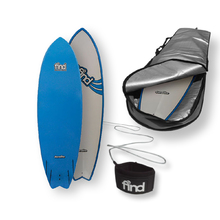 "FIND™ 6'0"" Quadfish Duralite Surfboard + Cover + Leash Package"