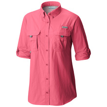 Columbia Womens PFG  Bahama Long Sleeve Shirt - Lollipop